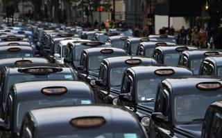 another blink-and-you'll-miss-it taxi demo will take place at bank today