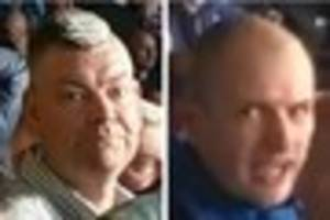 know these men? police investigate 'racist remarks' at derby...