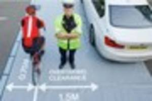 Undercover police WILL target Bristol drivers who pass cyclists...