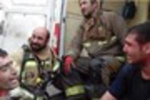 30 firefighters dead as  burning tower block collapses like Twin...