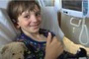 Plymouth raises £14,000 for adorable eight-year-old who...