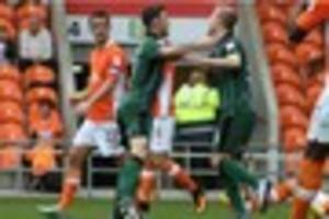 plymouth argyle's home league two game against blackpool...