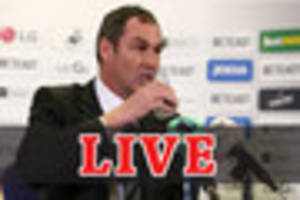 live: swansea city's paul clement speaks to the press ahead of...
