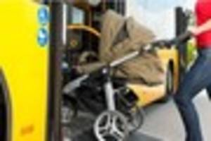 Parents told to fold buggies on buses if wheelchair user gets on...