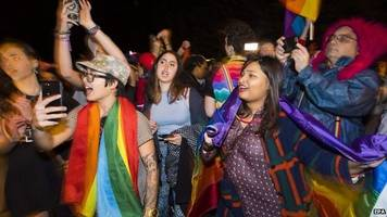 LGBT disco outside US vice president-elect Mike Pence's house