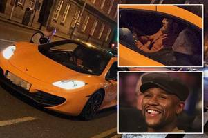 conor mcgregor stopped by irish police in supercar as floyd mayweather taunts ufc star over earnings
