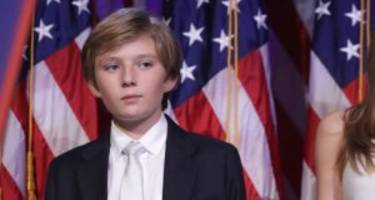 What's Wrong with Barron Trump? Donald Trump's Youngest Son Looks Sleepy & Confused