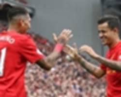 video: coutinho & firmino take on klopp in table tennis challenge