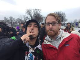 protesters handed out free marijuana joints in washington, dc on inauguration day