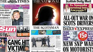 Scotland's papers: Trump centre stage and pollution charge