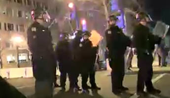 Police, Protesters Clash At Anti-Trump Rally In DC - Live Feed