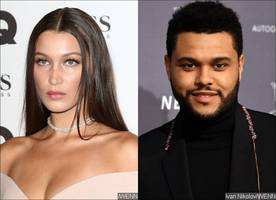 bella hadid bumps into ex the weeknd during concert at madison square garden