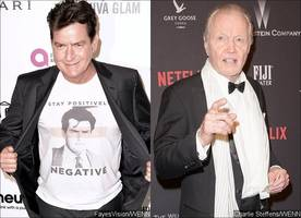did charlie sheen just threaten jon voight for speaking at donald trump's pre-inagural event?