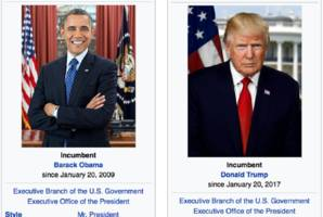 wikipedia editors can't decide if trump is the president yet