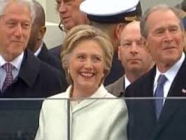 Hillary Clinton attends Trump's swearing-in ceremony
