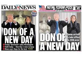 New York Tabloids Run Nearly Identical Covers For Trump Inauguration Day