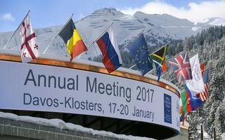 davos diary: prime minister may's reception as cold as the weather