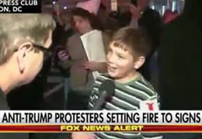 Kid Brags of Setting Anti-Trump Fire: 'Screw Our President'