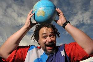 fair city funnyman bruce fummey packs his bags for the other side of the world