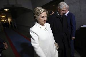 Hillary Clinton Booed at Trump Inauguration: 'Lock Her Up'