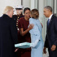 Melania Trump and Michelle Obama's excruciating gift moment is blowing up the internet