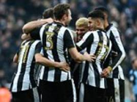 newcastle beat rotherham to go top of the championship