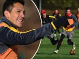 sanchez raring to go as arsenal prepare for burnley clash