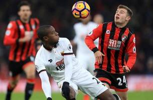 bournemouth rallies to deny watford first win in seven games