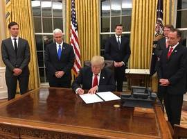 Trump Signs First Executive Order To Ease The Burden Of Obamacare