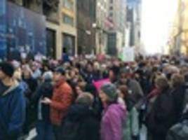 the nyc women's march has kicked off and has drawn a huge crowd