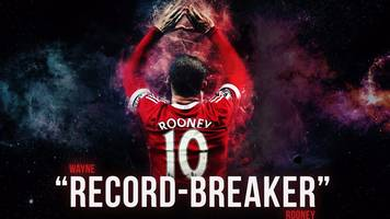 wayne rooney: goals from the man united record-breaker