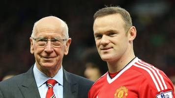 wayne rooney: record-breaking striker 'a true great' says sir bobby charlton