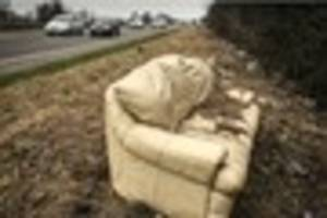 Some idiot left a sofa by the A38 and it's been there for weeks