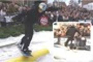 Hundreds turn out for Exeter's ski slope competition – here...