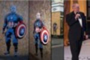 Donald Trump dressed as Captain America graffiti popping up...