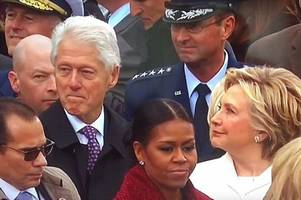watch hillary clinton catch bill ogling ivanka trump as we replay the best and worst bits from donald trump's inauguration