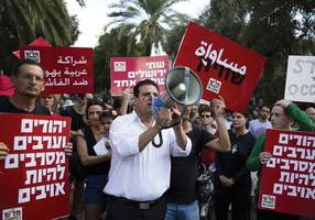 wadi ara protesters block roads, call for public security minister to resign