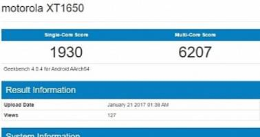 moto z (2017) with qualcomm snapdragon 835 cpu spotted in benchmark