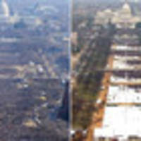 Missing million: Photo shows lower turnout for Donald Trump's inauguration