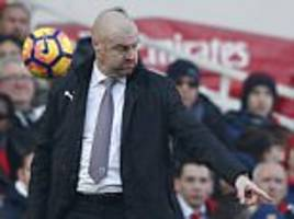 'arsenal penalty offside': burnley boss sean dyche angered