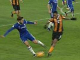 hull should have had a penalty '100 per cent' at chelsea