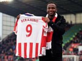 stoke can get berahino 'back on track' says mark hughes