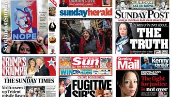 Scotland's papers: Trump protests and football rape case
