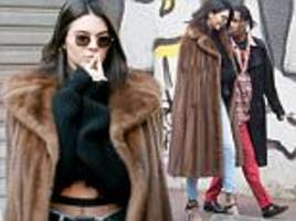 kendall jenner steps out in paris with a$ap rocky