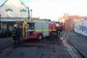 a bin fire at burnham on sea's newly re-opened post office has...