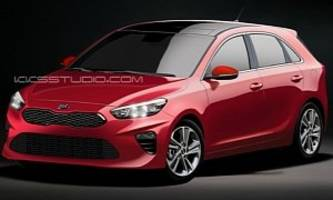 2018 kia cee'd rendered, looks just about right