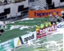 video: brazilian mascot pulls off outrageous save