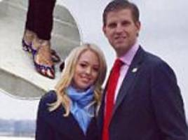 tiffany trump shows off $725 stars and stripes stilettos