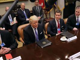 trump: we're going to 'cut regulation by 75%' and impose a 'very major border tax'