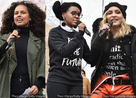 Alicia Keys, Janelle Monae, Madonna Perform at Women's March on Washington